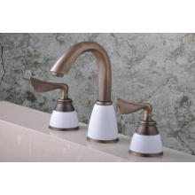 Antique Color Double Handle Brassbath Mixer Bathtub Faucet (Q30233A)