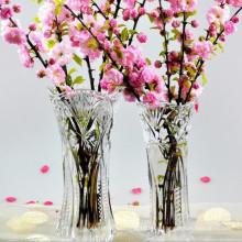 Großhandels-preiswerter hoher freier Kristallglas-Blumen-Vase für Hauptdekoration