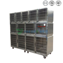 Yuesenmed Veterinary Hospital Médico de acero inoxidable jaula de mascotas