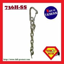 736H-SS Ancres en acier inoxydable à clôture en acier inoxydable avec mousqueton