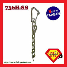 736H-SS Stainless Steel Rock Climbing Chain Anchors with Carabiner