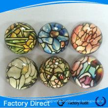 2015 Customized dome crystal glass fridge magnet
