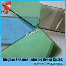 5мм темно-зеленый светоотражающие одну сторону стекла с сертификатом CE