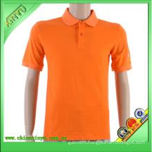 2016 Orange Color New Wholesale Cheap Simple Polo Shirt
