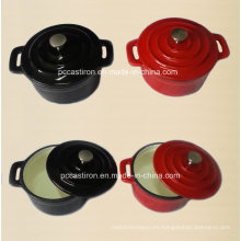 Esmalte de hierro fundido Mini cocotte cazuela Fabricante de China