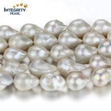 Großhandelsfrischwasserperlen-Strang große Größe 15mm kernte lose Perlen-Strang-Schnur