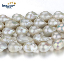 Vente en gros de perles d'eau douce Strand Large taille 15mm Diamated Loose Pearl Strand String