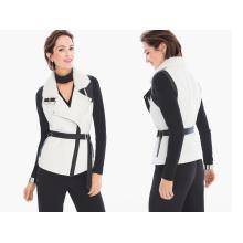 Ladies Slim Vest Withblack Label Shearling Vest