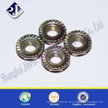 Shanghai JR Maunfacture Carbon Steel Grade 8.8 Hex Flansch Mutter