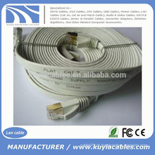 30FT / 10M CAT 7a Rede Ethernet 600MHz LAN FLAT Cabo de Ouro