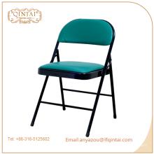 Chaises pliantes en métal bon marché avec coussin moelleux