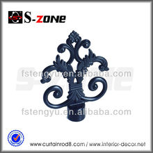 Decorative Drapery Window Heavy Duty Rod Iron Finials Black Curtain Hardware