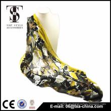 2015 nuevo primavera impreso viscosa multicolor cuello shawls