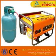 3 kw potencia super comienzo dominante combustible dual generador en venta caliente