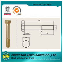 Hex Head Axle Bolt with Thread Rod
