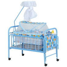 Baby iron bed, with mosquito net, with swing cradle