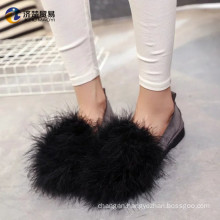 Autumn and winter new fur casual shoes shoes 2017 arrivals