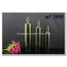 250ml 500ml 750ml Round Dark Green Olive Oil Glass Bottle