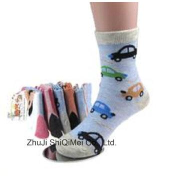 Cotton Polyester Boys Cartoon Cute Tube Socks