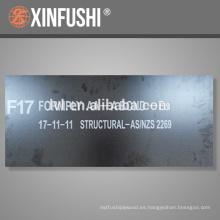TOP Grado F17 1200 * 1800 * 17MM Contrachapado estructural para el mercado de Fiji de China