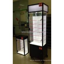 Custom Logo Eyewear Store Prateleiras de acrílico independentes Movable Top Led Iluminação Sunglass Display Case