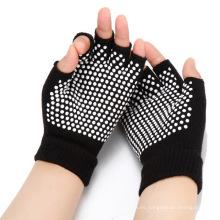 Venta caliente medio dedo guantes de fitness Yoga Pilates guantes