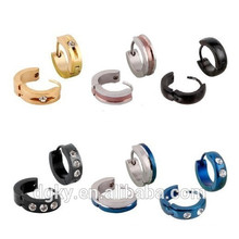 Assorted Colorful Surgical Steel Earring Hoop for Men