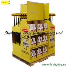 Hot Selling Paper Cardboard Counter Display for cleaning Tools Products with Cmyk Printing (B&C-C011)