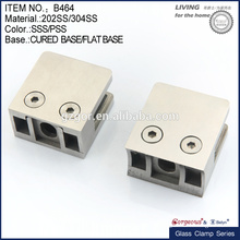 middle size square die-cast stainless steel glass clamp