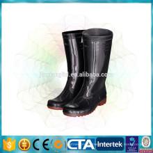high work boots, classic shiny rain boots
