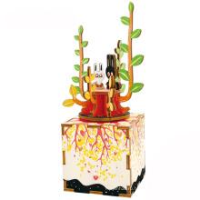 Марка КТ красивый механизм, маленькие дети персонализированный подарок девочек деревянная музыкальная шкатулка