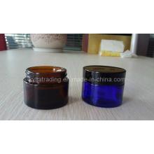 5ml, 50ml Bernstein Glas Creme Jar
