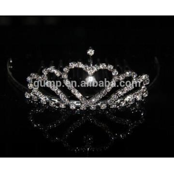 Corona al por mayor de la princesa del niño, pequeña princesa corona, mini corona de los cabritos