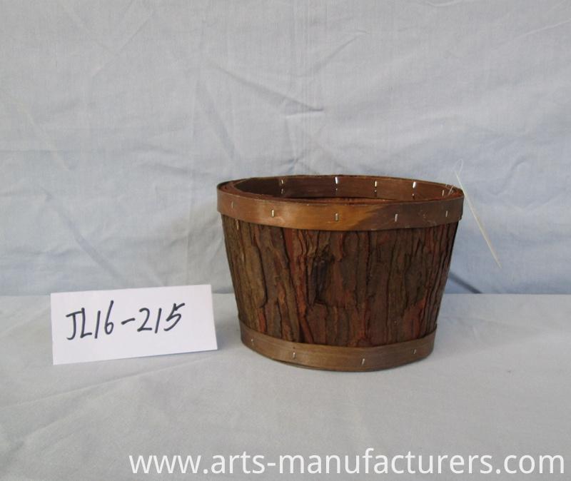 weaving wood bark basket
