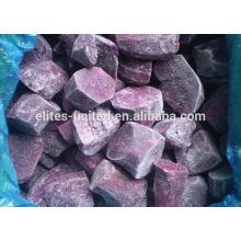 Frozen purple sweet potato piece