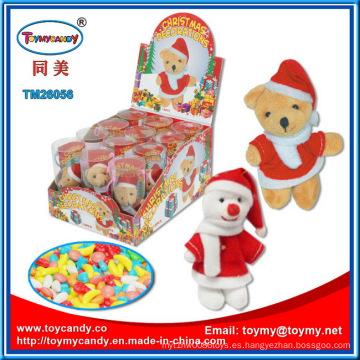 Juguete de felpa de la Navidad con dulces para niños