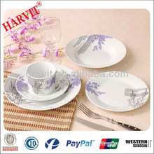 Round colorful decal porcelain dinnerware set