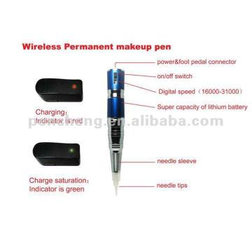 Stylo de maquillage permanent sans fil et fourniture de tatouage