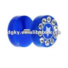316 brincos da forma do aço inoxidável Anel Piercing do umbigo