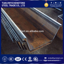 M profile Cold formed steel sheet pile price Q235