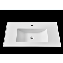 Pure acrylic/stone resin washbasin for bathroom cabinet