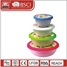 Envase de alimentos redondo (4pcs 1L - 5L)