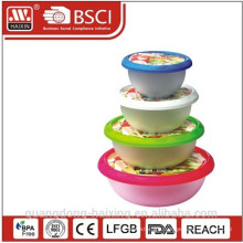 Round Food Container(4pcs 1L-5L)