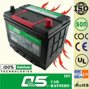 JIS-48D26 12V50AH Autobatterie für wartungsfreie Autobatterie