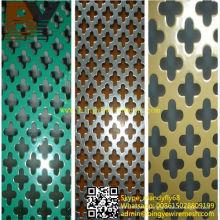 Malla metálica perforada recubierta de PVC para arquitectura
