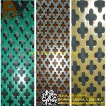 Malha de metal perfurado revestido de PVC para arquitetura