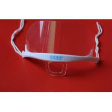 Doppelseitige Anti-Fog-transparente Kunststoff-Gesichtsmaske (MK-003)