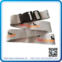 Custom High Quality Luggage Strap with Screen Printed Logo