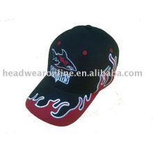 Sombrero de sol de algodón con bordado de apliques