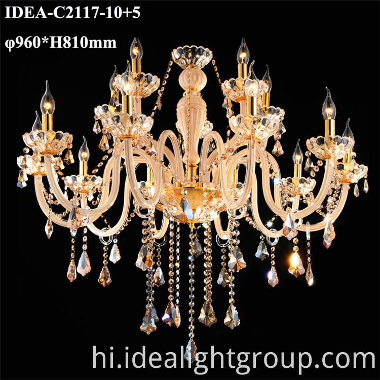 crystal candle pendant lighting